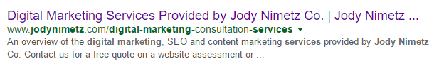 Meta Description Displayed in Google Results