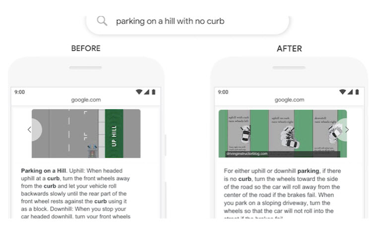 Google BERT Algorithm Parking Example